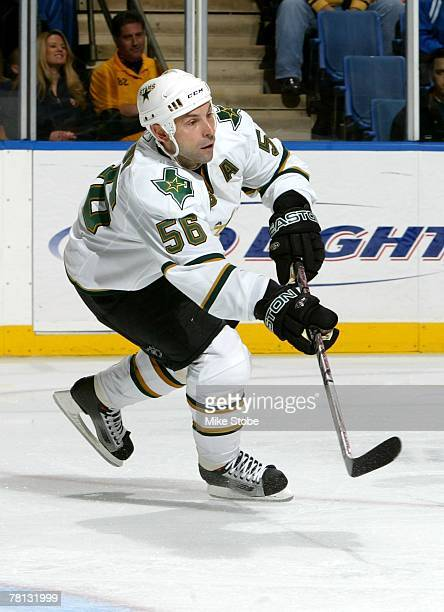 Sergei Zubov of the Dallas Stars skates against the New York Islanders on November 26 2007 at Nassau Coliseum in Uniondale New York
