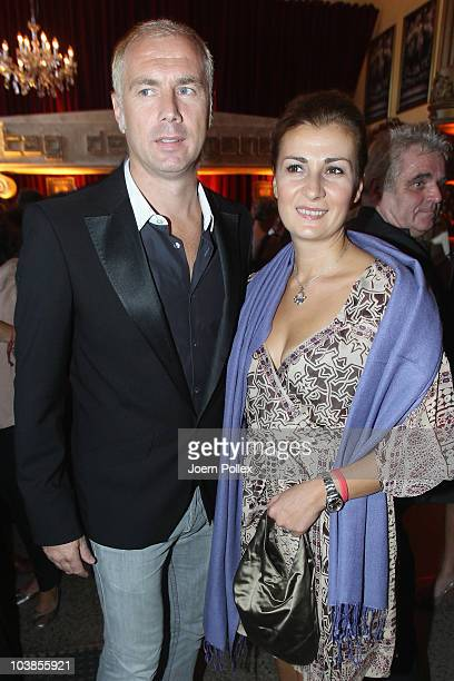 Sergej Barbarez and his wife Ana attend the Day of Legends gala Night of Legends at the Schmitz Tivoli theatre on September 5, 2010 in Hamburg,...