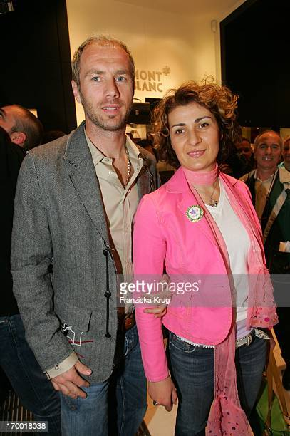 Sergej Barbarez And His wife Anna at The Opening Of New Store On Montblanc Neuer Wall in Hamburg 210405.