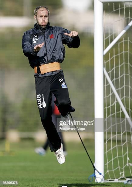 Sergej Barbarez in action during the Hamburger SV training camp on January 15, 2006 in La Manga near Cartagena, Spain.
