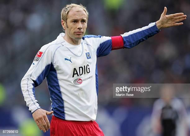 Sergej Barbarez of Hamburg during the Bundesliga match between Hamburger SV and Borussia Monchengladbach at the AOL Arena on April 9, 2006 in...
