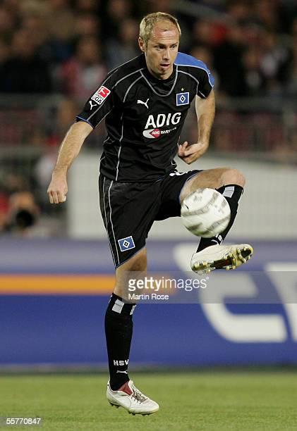 Sergej Barbarez of Hamburg seen in action during the Bundesliga match between VfB Stuttgart and Hamburger SV at the Gottlieb-Daimler stadium on...