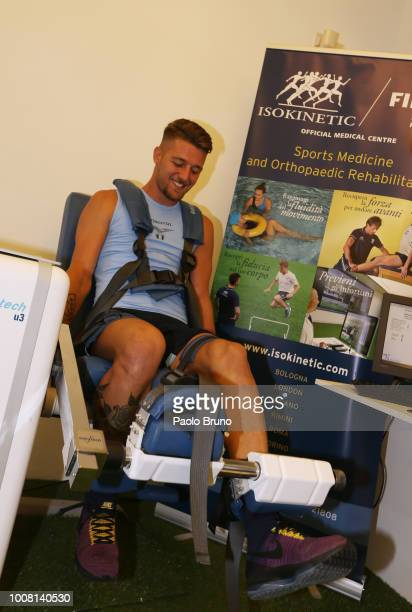 Sergej Milinkovic of SS Lazio attends SS Lazio medical tests on July 31 2018 in Rome Italy
