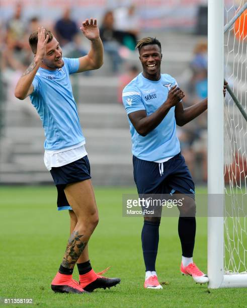 Sergej Milinkovic Savic and Balde Diao Keita of SS Lazio during the SS Lazio Training Camp Day 1 on July 9 2017 in Rome Italy