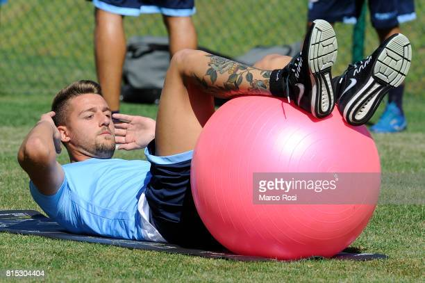 Sergej Milinkovic Savic during the SS Lazio PreSeason Training Camp on July 16 2017 in Pieve di Cadore Italy