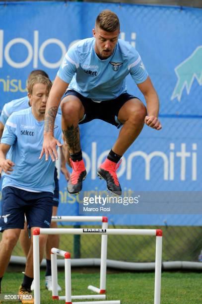 Sergej Milinkovic Savic during the SS Lazio PreSeason Training Camp on July 22 2017 in Pieve di Cadore Italy