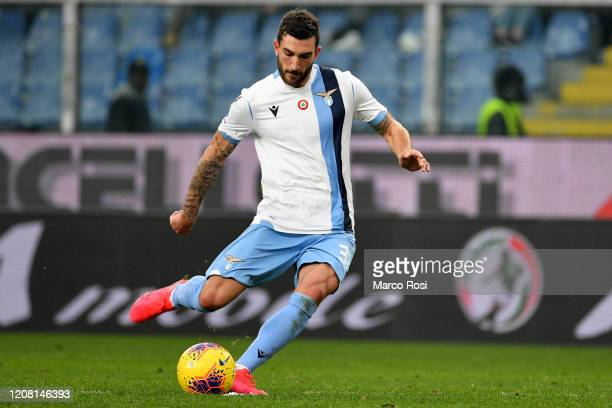 Sergej Milinkovic Savic of SS Lazio compte for the ball with Domenico Criscito of Genoa CFC during the Serie A match between Genoa CFC and SS Lazio...