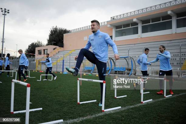 Sergej Milinkovic Savic of SS Lazio during a SS Lazio training session on January 15 2018 in Rome Italy