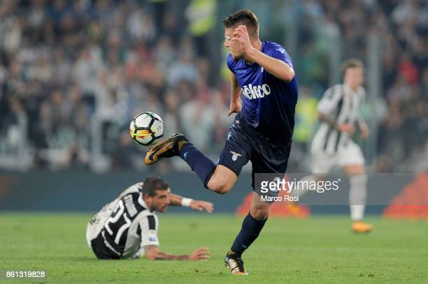 Sergej Milinkovic Savic of SS Lazio during the Serie A match between Juventus and SS Lazio on October 14 2017 in Turin Italy