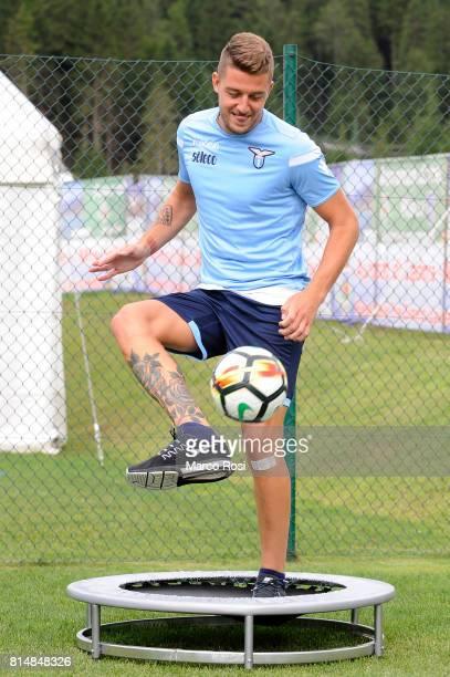 Sergej Milinkovic Savic of SS Lazio during the SS Lazio PreSeason Training Camp on July 15 2017 in Pieve di Cadore Italy
