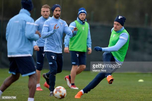 Sergej Milinkovic Savic of SS Lazio during the SS Lazio training session and press conference on March 7 2018 in Rome Italy