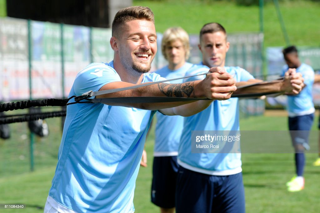 Sergej Milinkovic Savic of SS Lazio during the SS Lazio Training Camp - Day 1 on July 9, 2017 in Rome, Italy.