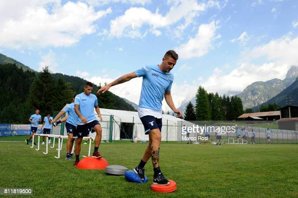 Sergej Milinkovic Savic of SS lazio during the SS Lazio Training Camp Day 2 on July 10 2017 in Pieve di Cadore Italy