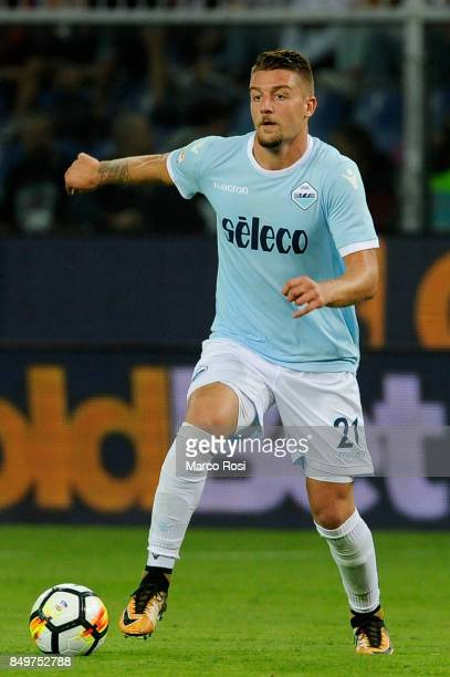 Sergej Milinkovic Savic of SS Lazio in action during the Serie A match between Genoa CFC and SS Lazio at Stadio Luigi Ferraris on September 17 2017...