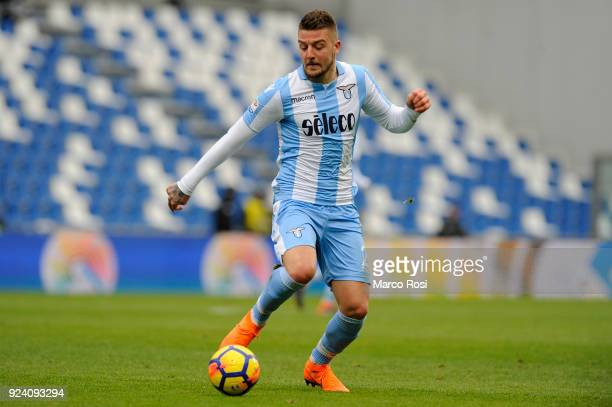 Sergej Milinkovic Savic of SS Lazio in action during the serie A match between US Sassuolo and SS Lazio at Mapei Stadium Citta' del Tricolore on...