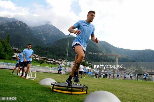 Sergej Milinkovic Savicof SS lazio during the SS Lazio Training Camp Day 2 on July 10 2017 in Pieve di Cadore Italy