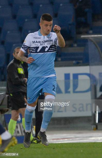 Sergej MilinkovicSavic during the Italian Serie A football match between SS Lazio and Bologna at the Olympic Stadium in Rome on may 20 2019