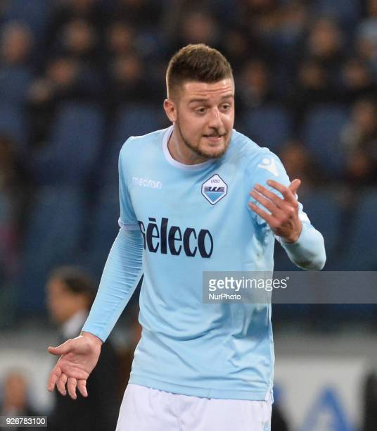 Sergej MilinkovicSavic during the Italian Serie A football match between SS Lazio and FC Juventus at the Olympic Stadium in Rome on march 03 2018