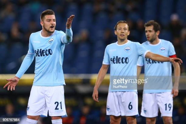 Sergej MilinkovicSavic of Lazio during the Italian Serie A football match between Lazio and Juventus at The Olympic Stadium in Rome on March 3 2018