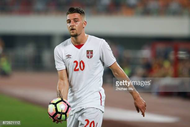 Sergej MilinkovicSavic of Serbia during International Friendly Football Match between China and Serbia at Tianhe Stadium on November 10 2017 in...