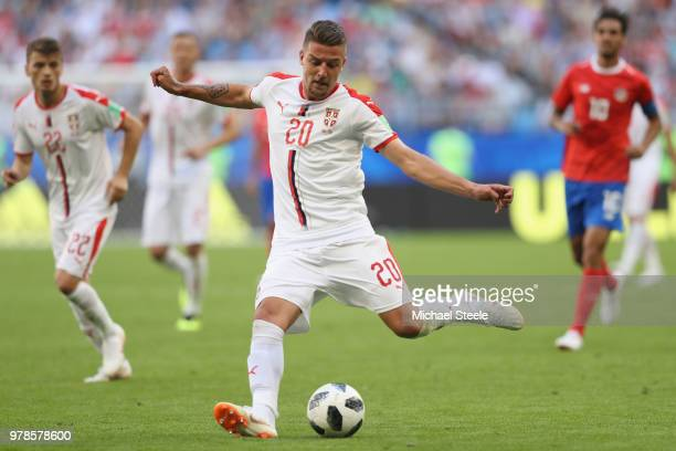 Sergej Milinkovic-Savic of Serbia during the 2018 FIFA World Cup Russia group E match between Costa Rica and Serbia at Samara Arena on June 17, 2018...
