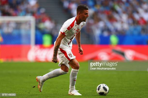 Sergej Milinkovic-Savic of Serbia in action during the 2018 FIFA World Cup Russia group E match between Costa Rica and Serbia at Samara Arena on June...