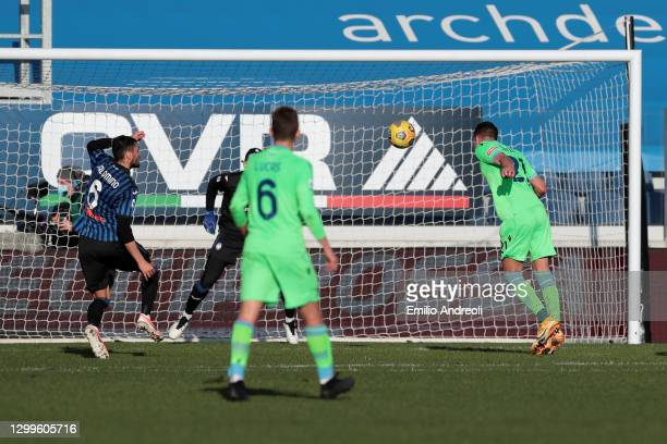Sergej Milinkovic-Savic of SS Lazio misses an opportunity during the Serie A match between Atalanta BC and SS Lazio at Gewiss Stadium on January 31,...