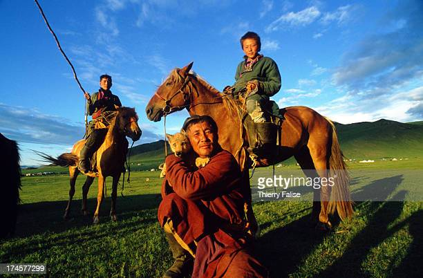 Sergelen is a horsebreeder who has six horses racing in the next two days at the horserace event of the Naadam festival He arrived here with his...