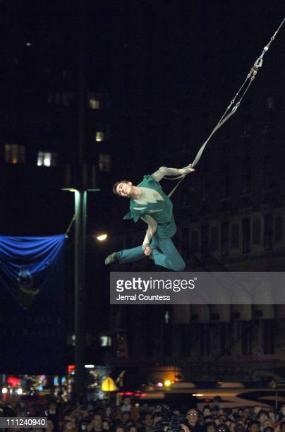 Sergey Akimov from the Big Apple Circus performs during Lincoln Center's 16th Annual Holiday Tree Lighting Ceremony at Lincoln Center in New York...