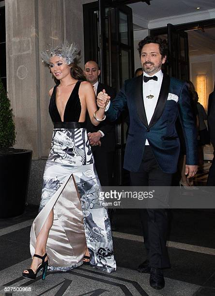 Sergey Brin leaving his hotel on May 2 2016 in New York City