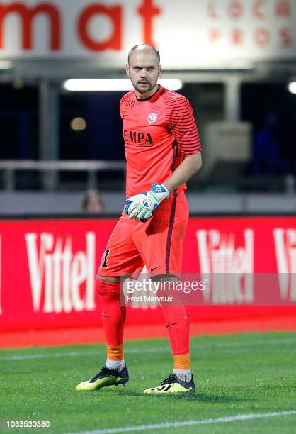 Sergey Chernik of Nancy during the French Ligue 2 match between Nancy and Le Havre on September 14 2018 in Nancy France
