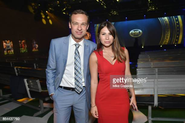 Sergey Gordeev and Maria Komandnaya attend FOX Sports 2018 FIFA World Cup Celebration on September 26 2017 at ArtBeam in New York City