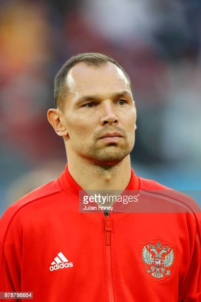 Sergey Ignashevich of Russia during the 2018 FIFA World Cup Russia group A match between Russia and Egypt at Saint Petersburg Stadium on June 19 2018...