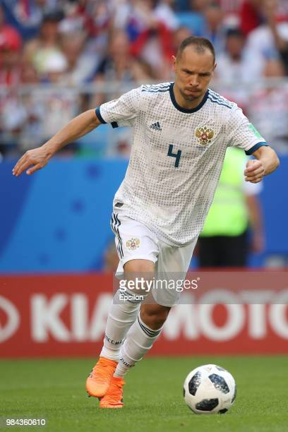 Sergey Ignashevich of Russia during the 2018 FIFA World Cup Russia group A match between Uruguay and Russia at Samara Arena on June 25 2018 in Samara...