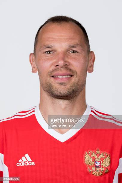 Sergey Ignashevich of Russia poses for a portrait during the official FIFA World Cup 2018 portrait session at Federal Sports Centre Novogorsk on June...