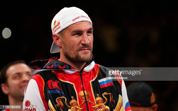 Sergey Kovalev prepares for his WBO light heavyweight title defense against Canelo Alvarez at MGM Grand Garden on November 2, 2019 in Las Vegas,...