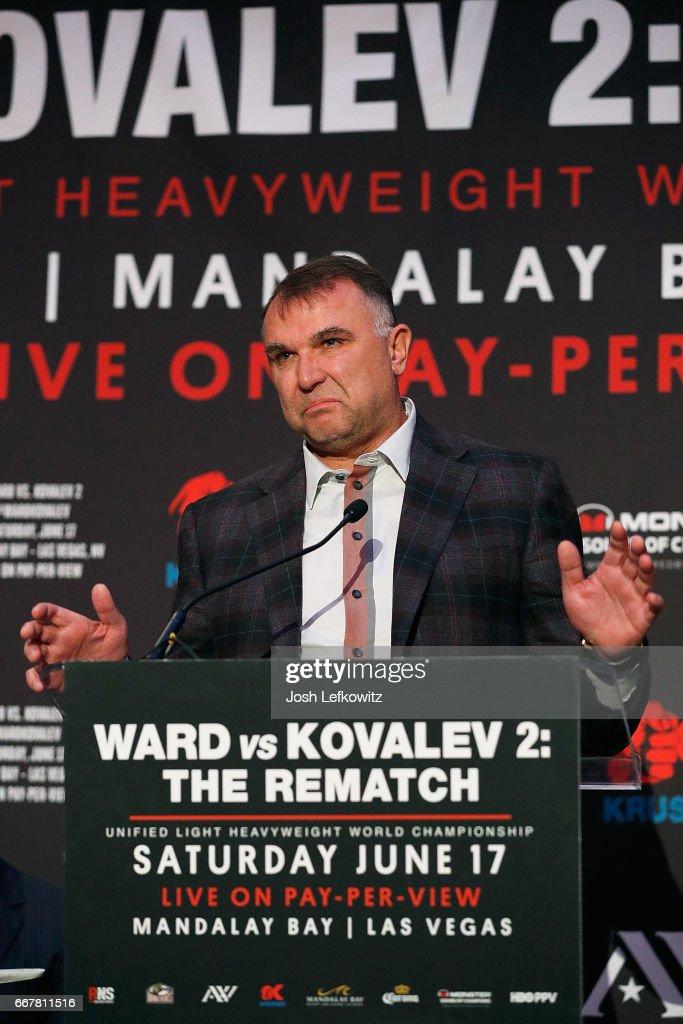 """Ward-Kovalev 2: """"The Rematch"""" - Los Angeles Press Conference"""