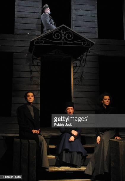 Sergey Kuryshev as Ivan Chebutikin Ekaterina Tarasova as Irina Irina Tychinina as Olga and Ksenia Rappoport as Masha in The Maly Drama Theatre of St...