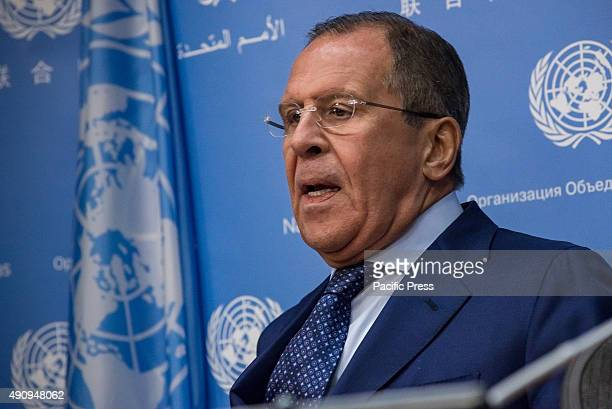 Sergey Lavrov delivers his prepared statement Russian Foreign Minister Sergey Lavrov held a press conference at the United Nations to comment upon...