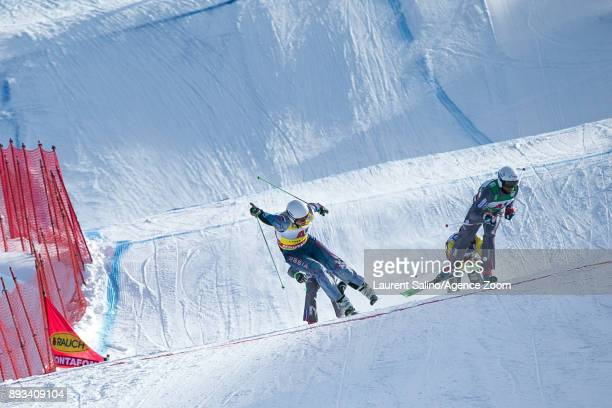 Sergey Ridzik of Russia takes 1st place Terence Tchiknavorian of France takes 2nd place during the FIS Freestyle Ski World Cup Men's and Women's Ski...