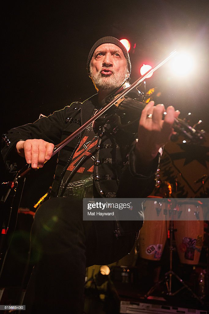 Sergey Ryabtzev of Gogol Bordello performs on stage at The Showbox on March 14, 2016 in Seattle, Washington.