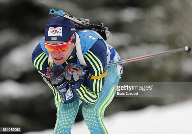 Sergey Semenov of Ukraine competes during the 10 km men's Sprint on January 5 2017 in Oberhof Germany