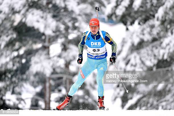 Sergey Semenov of Ukraine wins the bronze medal during the IBU Biathlon World Championships Men's and Women's Sprint on March 5 2016 in Oslo Norway