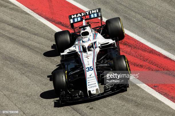 Sergey Sirotkin from Russia Williams F1 Mercedes FW41 during day four of F1 Winter Testing at Circuit de Catalunya on March 9, 2018 in Montmelo,...