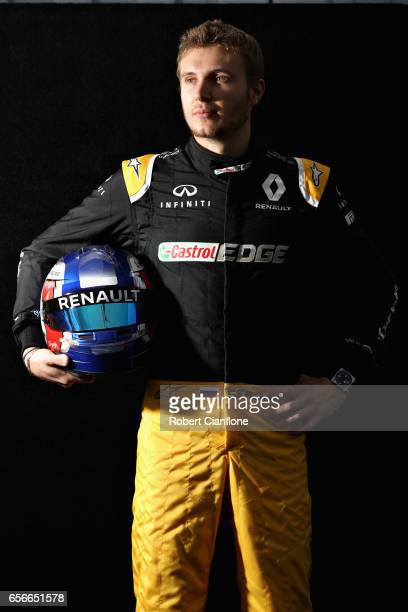 Sergey Sirotkin of Russia and Renault Sport F1 poses for a portrait during previews to the Australian Formula One Grand Prix at Albert Park on March...