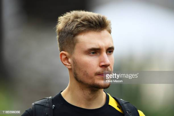 Sergey Sirotkin of Russia and Renault Sport F1 walks in the Paddock before practice for the F1 Grand Prix of Mexico at Autodromo Hermanos Rodriguez...