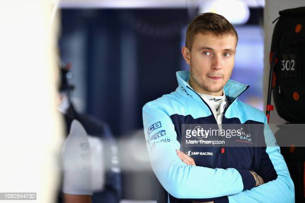 Sergey Sirotkin of Russia and Williams looks on in the garage during practice for the United States Formula One Grand Prix at Circuit of The Americas...