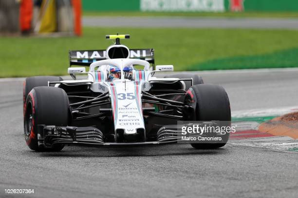Sergey Sirotkin of Russia and Williams Martini in the paddock during the Formula One Grand Prix of Italy