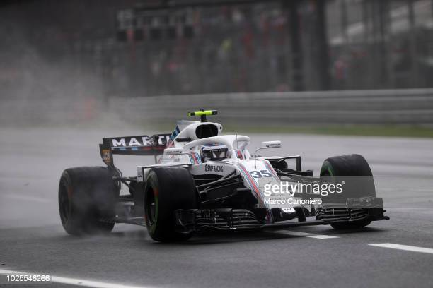 Sergey Sirotkin of Russia and Williams Martini on track during practice for the Formula One Grand Prix of Italy.