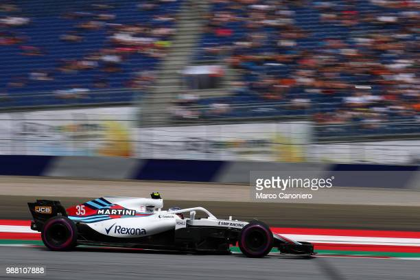 Sergey Sirotkin of Russia and Williams Martini on track during qualifying for the Formula One Grand Prix of Austria
